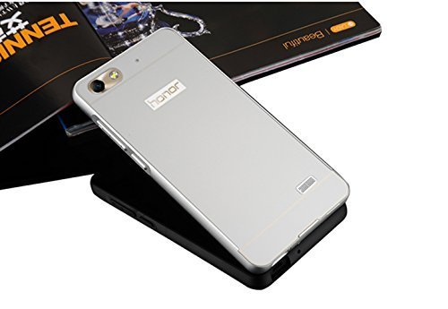 Sunnycase® Huawei G Play mini / Huawei Honor 4C Funda Aluminio carcasa Oro Metal Mirror Bumper phone case Hard Cover with Frame caja del teléfono Protectora cáscara chic marco + espejo espalda Color2