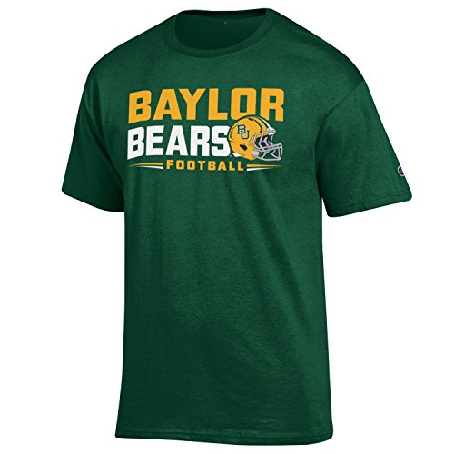 Champion NCAA 2015 Schedule T-Shirt-Baylor Bears-Green-Large