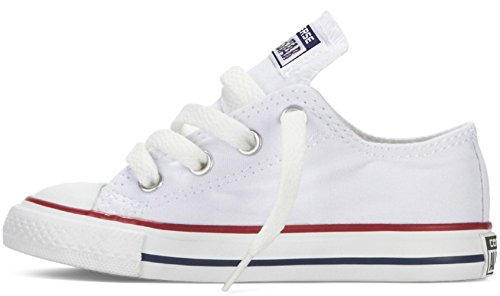 (Converse Kids Chuck Taylor All Star Kids Ox (7 M US Toddler, Optic)
