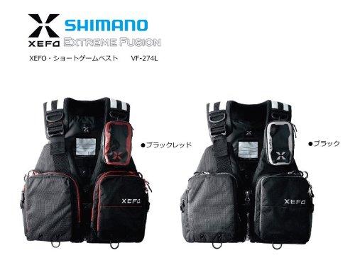 シマノ XEFO・ショートゲームベスト VF-274L ブラックの商品画像