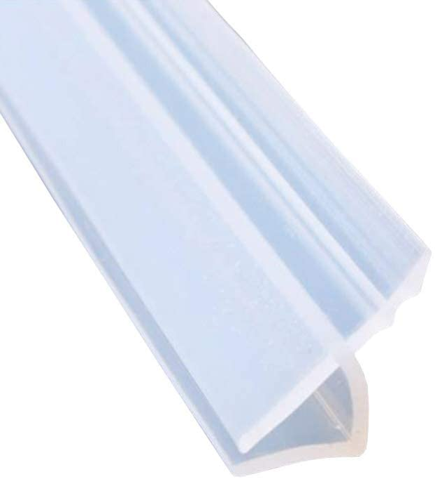 Mintice tira de sellado de la puerta del baño sello de espacio de ventana de mampara de ducha curvo plano caucho vaso fondo clima 8mm 39