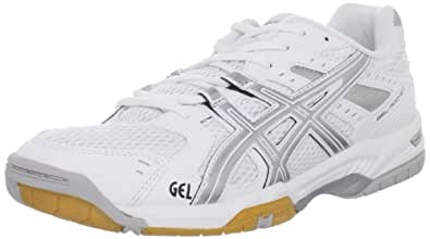 ASICS Women's GEL-Rocket 6 Volleyball Shoe,White/Silver,8 M US
