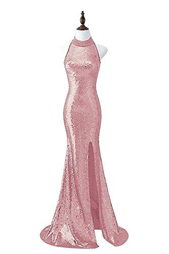 Besswedding Robe De Soirée Licol De Bal Des Femmes Pour Les Juniors Robe Avec Pink1 Haute Fente
