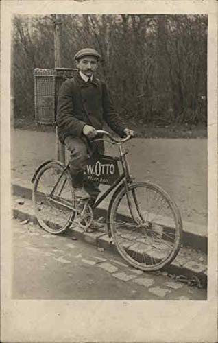Early Bicycle Delivery W. Otto Bicycles Original Vintage Postcard