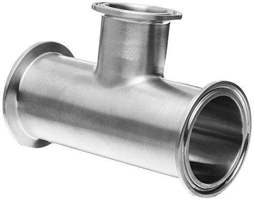 Dixon B7RMP-G200150 Stainless Steel 304 Sanitary Fitting, Reducing Clamp Tee, 2'' Tube OD x 2'' Tube OD x 1-1/2'' Tube OD by Dixon Valve & Coupling
