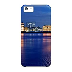 Protective Tpu Case With Fashion Design For Iphone 5c (night Lights Landscape)