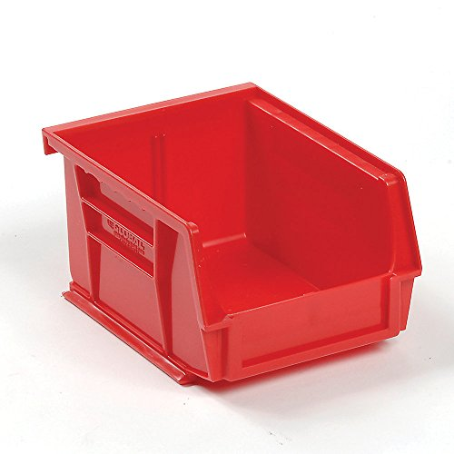 Global-Stacking-Bins-4-18-X5-38-X3-Red-Lot-of-24