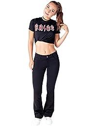 Bebop Women's 5 Pocket Bootcut Stretch Cotton Twill Chino Pant
