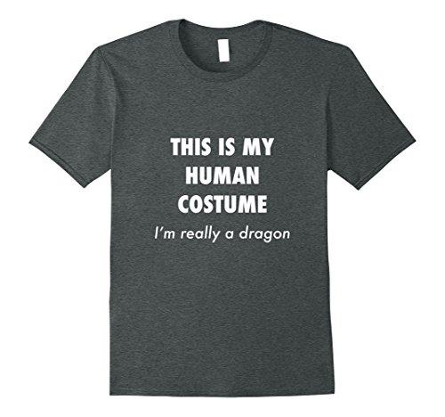 Mens Funny Dragon Costume Halloween Shirt for Women Men Boys Girl 2XL Dark (Creative Halloween Costumes For College Girls)