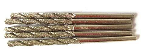 Diamond Drill Bit 1.5mm Set 20 Pcs Jewelry Beach Sea Glass Shells Gemstones 20 Pieces Twist Bits Kit Pack by Drilax