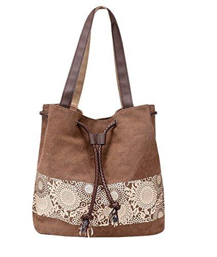 Bucket Bag Womens Canvas Handbags Purse Totes Hobos Shoulder Bags -