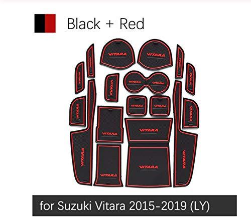 linfei Alfombrilla Antideslizante De La Ranura De La Puerta De Goma para Suzuki Vitara 2015-2019 Accesorios Pegatina
