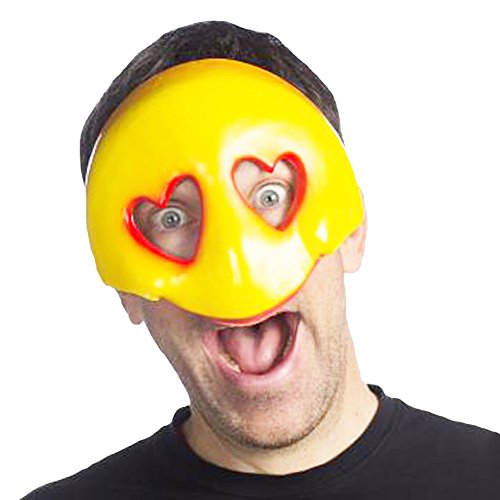 HMS Emoji Party Favors Masks Costume Accessory For Halloween and Parties (Love) by HMS