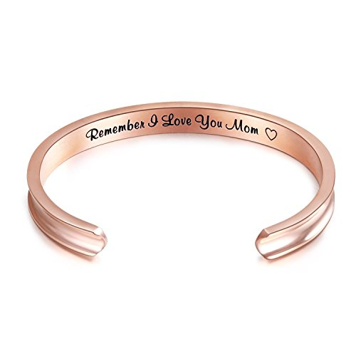 UPC 726481143257, Sweheart For Mother's Day Gifts - 'Remember I Love You Mom' Cuff Bangle Bracelets from Mom and Daughter