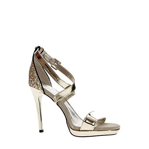 HAOYUXIANG Verano nuevas sandalias de cuero de boca baja grueso tac/ón grueso acentuado zapatos de moda femenina Color : Blanco, Tama/ño : 34