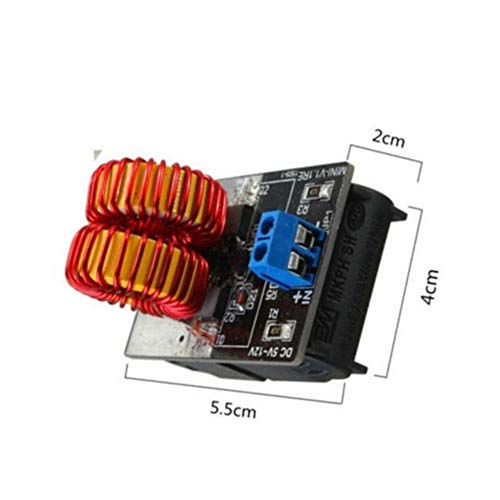 Lanlan Heating Power Mini ZVS Induction Heating Power Supply Module Jacob's Ladder and Coil for Home School Supplies