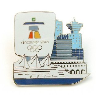 Pins 2010 Olympic Vancouver (Vancouver 2010 Skyline / Ship Olympic Pin)