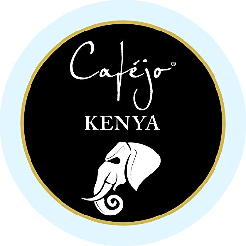 Cafejo K-Cups, Kenya Coffee, 12 Count (Pack of 6)