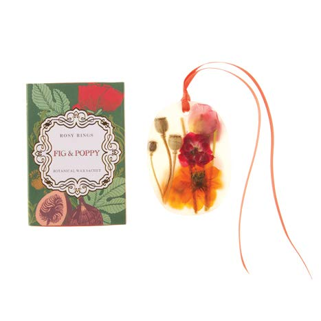 Rosy Rings Oval Botanical Wax Sachet - Fig & - Wax Oval