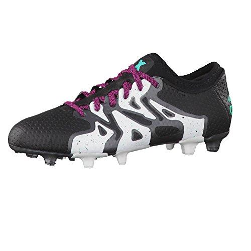 Adidas X 15 + Primeknit FG/AG Botas de fútbol negro/blanco