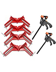 4 Pack Right Angle Clamp Multifunctional 90 Degree Woodworking Right Angle Clamp Craft DIY, Frame Clamp, Glass Holder