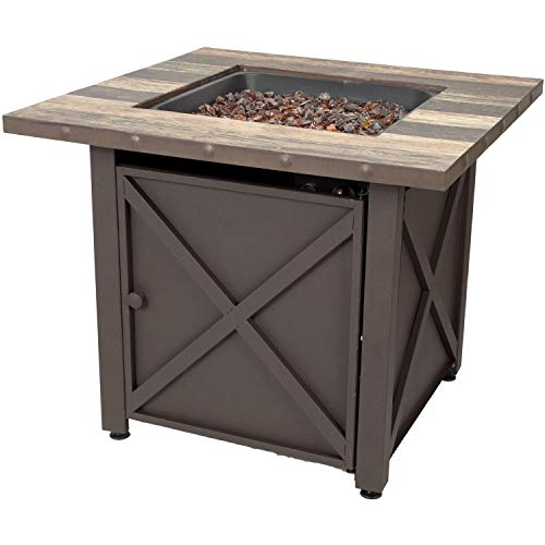 Endless Summer 30-in W 50000-BTU Brown Tabletop Steel Propane Gas Fire Table