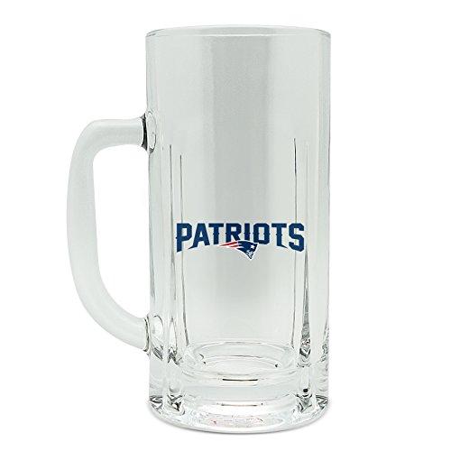 - NFL New England Patriots 20oz Heavy Duty Glass Kraft Mug