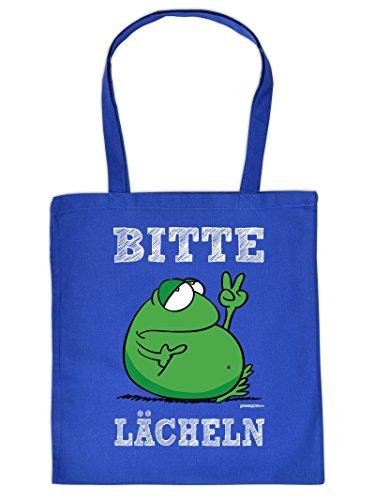 BITTE LÄCHELN :Tote Bag Henkeltasche Beutel mit Aufdruck. Tragetasche, Must-have, Stofftasche,Geschenkidee