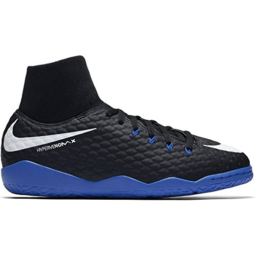 Nike Youth Hypervenomx Phelon III Dynamic Fit Indoor Shoes Indoor/Court Football Boot [Black] (5Y) ()