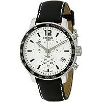 Men's T0954171603700 Quickster Analog Display Swiss Quartz Black Watch