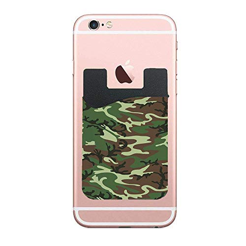 Commando Uniform - Commando Uniform Inspired Pattern Forest Tile Cell Phone Card Holder,Wallet Adhesive Sticker on Sleeves for iPhone and Smartphone for Credit Card,ID,Cash