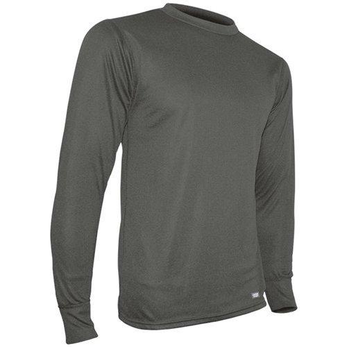Polarmax Double Base Layer Crew Shirt, Artic Grey, Small -