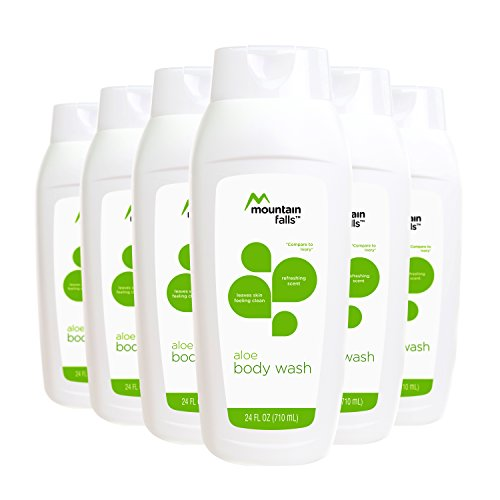 Mountain Falls Body Wash, Aloe, Compare to Ivory, 24 Fluid Ounce (Pack of 6)