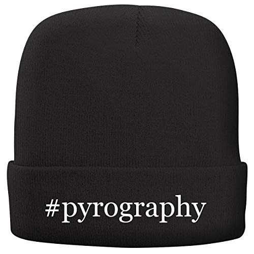 BH Cool Designs #Pyrography - Adult Comfortable Fleece Lined Beanie, Black