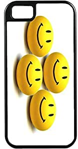 Case For Ipod Touch 5 Cover Customized Gifts Cover four Yellow Cute Happy Smiley Faces Design