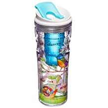 Cypress Home Color My World Acrylic Fruit Infuser Travel Tumbler, 16 ounces