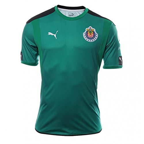 Puma Men's Chivas 16/17 Goalkeeper Away Columbia/Puma Black Jersey - XL