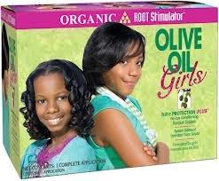 Organic Root Olive Oil Girls Relaxer Kit