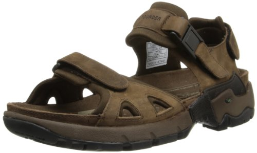 - ALLROUNDER by MEPHISTO Men's Alligator Sandal,Brown Waxy,12 M US