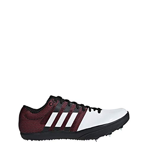 adidas Adizero Long Jump Spike Shoe - Unisex Track & Field White/Core Black/Shock Red (Best Long Jump Spikes)