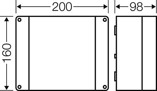 Hensel Kabelabzweigkasten KC 9255 3ph,5pol 2,5-10qmm Dose Geh/äuse f/ür Montage auf der Wand//Decke 4012591111313