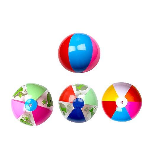 Vococal - 1 PC Sechs Farben Aufblasbarer Wasserball Beach - Pädagogisches Spielzeug Strandball für Babys Kids Kinder, Zufällige Farbe