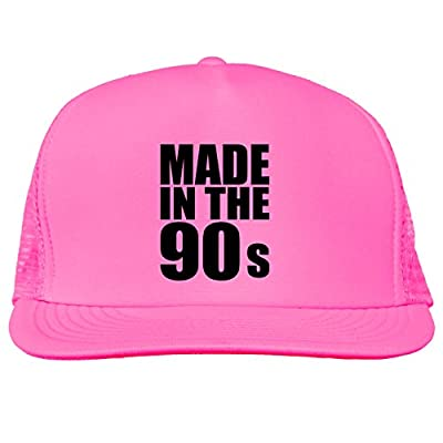 Made in the 90s Bright neon truckers mesh snap back hat in 6 Bright Colors