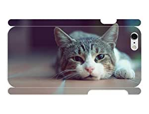 iPhone 6 cover case Animals Cute Lazy Cat by heat sublimation