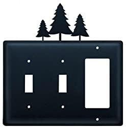 Village Wrought Iron Essg-20 Switch Cover Triple - Pine Trees