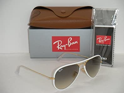 White Ray Bans Aviators