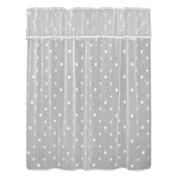 Heritage Lace Sand Shell Shower Curtain And Valance Set 72 By