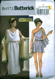 Butterick B4572 Size XS-MED Making History Ancient Greek (Greek Costume Patterns)