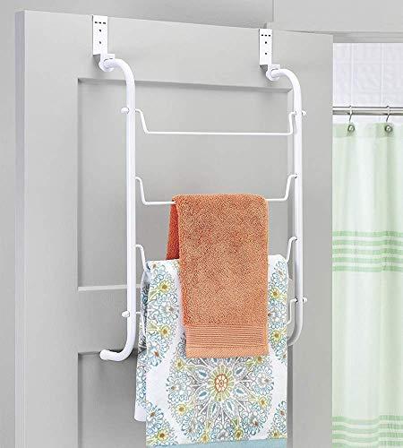 Whitmor Over The Door Towel Rack, White