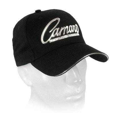 John Rock Star Camaro Chrome Metal Look logo Black Baseball Hat